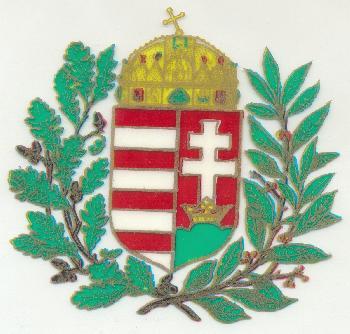 9db1e90698 Ősi motívumaink - címer babérkoszorúval-Ablakkép-Egyéb .